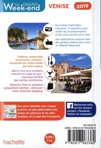 Un grand week-end à Venise  Edition 2019 -  avec 1 Plan détachable