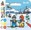 Lucie Voisin et Stéphanie Ledu - Au ski - Avec 1 livret à colorier, 4 grandes images avec stickers, des jeux d'observation.
