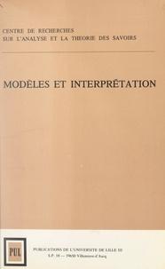 Lucien Bescond et  Centre de recherches sur l'ana - Modèles et interprétation.