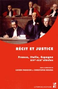 Histoiresdenlire.be Récit et justice - France, Italie, Espagne, XIVe-XIXe siècles Image