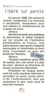 Lucien - Libéré sur parole.