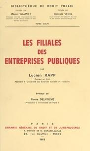 Lucien Rapp - Les filiales des entreprises publiques.