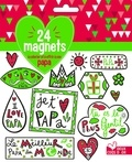 Lucile Ahrweiller - 24 magnets à colorier et à offrir à son papa.