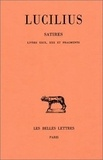Lucilius et F. Charpin - Satires Livres XXIX, XXX et : Livres XXIX, XXX et fragments divers.