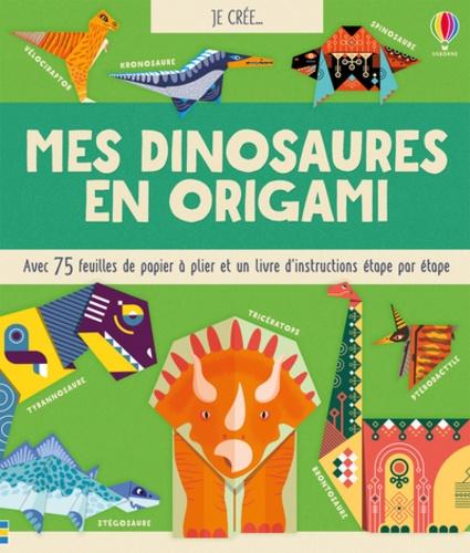 Mes Dinosaures En Origami Avec 75 Feuilles De Papier A Plier Et Un Livre D Instructions Etape Par Etape Grand Format