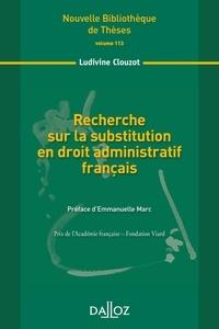 Recherche sur la substitution en droit administratif français.pdf