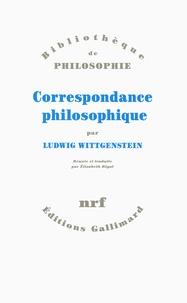 Ludwig Wittgenstein - Correspondance philosophique.
