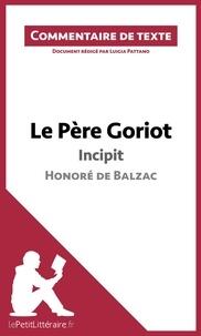 Luigia Pattano - Le Père Goriot de Balzac - Commentaire de texte.
