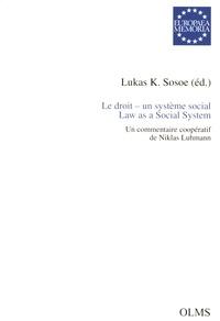 Corridashivernales.be Le droit - un système social - Un commentaire coopératif de Niklas Luhmann Image