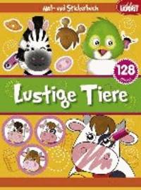 Lustige Tiere - Mal- und Stickerbuch.