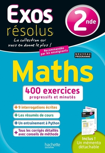 Maths 2de  Edition 2019