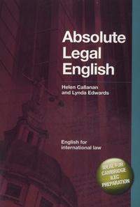 Lynda Edwards - Absolute Legal English. 1 CD audio