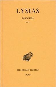 Lysias - Discours - Tome 1, Volume 15.