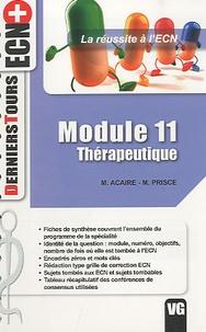 M Acaire et M. Prisce - Thérapeutique - Module 11.