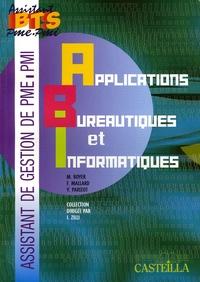 M Boyer - Applications bureautiques et informatiques BTS Assistant PME-PMI.
