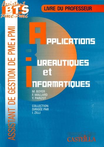 M Boyer et F Mallard - Applications bureautiques et informatiques BTS assistant PME/PMI - Guide du professeur Pôle 4.