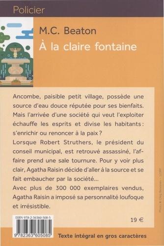 Agatha Raisin enquête Tome 7 A la claire fontaine - Edition en gros caractères