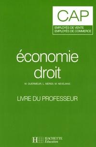 Alixetmika.fr Economie droit CAP employés de vente, employés de commerce - Livre du professeur Image