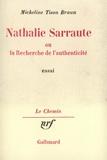 M Tison-Braun - Nathalie Sarraute ou la Recherche de l'authenticité.