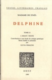 Madame de Staël - Delphine - Tome 2, L'avant-texte : contribution à une étude de critique génétique.
