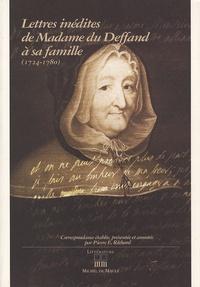 Madame du Deffand - Lettres inédites de Madame du Deffand à sa famille.