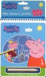 Madeleine C - Mes dessins à gratter Peppa Pig - Avec un crayon en bois.