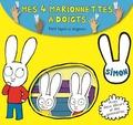 Madeleine C - Petit lapin si mignon - Mes 4 marionnettes à doigts. Avec deux décors et des gommettes.