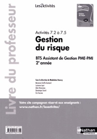 Madeleine Doussy - Activités 7.2 à 7.5 Gestions du risque - Livre du professeur.