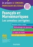 Français et mathématiques - Toutes les annales corrigées - CRPE 2020 - Sessions 2016 à 2019 - Sessions 2016 à 2019.