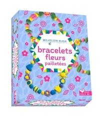 Mademoiselle Lupin - Bracelet fleurs pailletées.