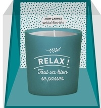 Mademoiselle Navie - Coffret bougie Relax - Avec un carnet et une bougie.
