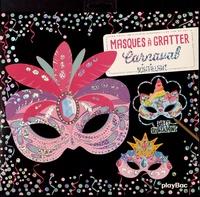 Magali Fournier - Masques à gratter carnaval scintillant - Avec 5 masques à gratter, 5 coloriages, 1 stylet en bois, 5 élastiques.
