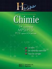 Magali Giacino et Alain Jaubert - Chimie MPSI-PTSI-PCSI (option SI 2e periode) 1re année - édition 2003.