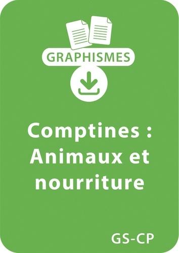 Magdalena Guirao-Jullien - Graphismes  : Graphismes et comptines GS/CP - Animaux et nourriture - Un lot de 9 fiches à télécharger.