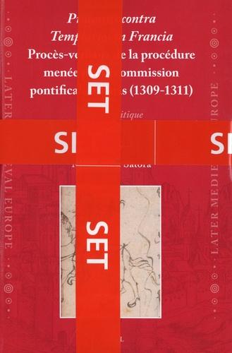 Magdalena Satora - Processus contra Templarios in Francia - Procès-verbaux de la procédure menée par la commission pontificale à Paris (1309-1311), en 2 volumes.