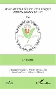Magloire Ondoa - Revue africaine des sciences juridiques N° 1/2016 : .