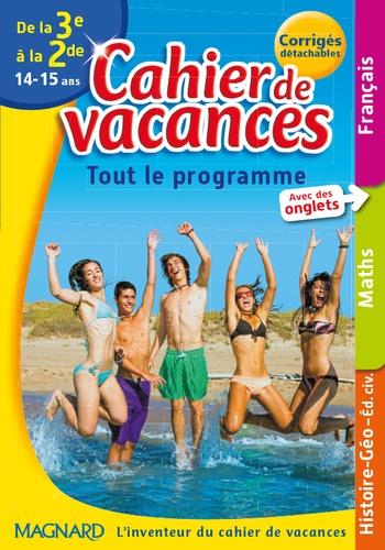 Cahier De Vacances De La 3e A La 2e 14 15 Ans
