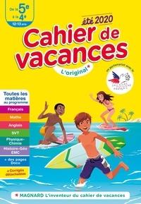 Magnard - Cahier de vacances été de la 5e à la 4e.