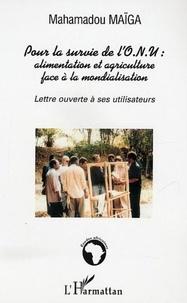 Mahamasou Maïga - Pour la survie de l'ONU : alimentation et agriculture face à la mondialisation.