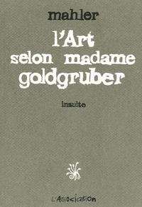 Histoiresdenlire.be L'Art selon Madame Goldgruber - Insulte Image