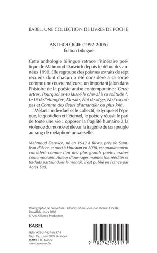 Anthologie poétique (1992-2005). Edition bilingue