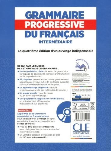 Grammaire progressive du français intermédiaire A2-B1 4e édition -  avec 1 CD audio