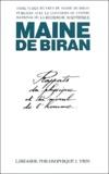 Maine de Biran - Oeuvres Tome 6 : Rapports du physique et du moral de l'homme - Mémoire de Copenhague 1811.