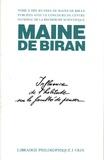 Maine de Biran - Oeuvres - Tome 2, Mémoires sur l'influence de l'habitude.