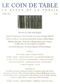 Jacques Charpentreau - Le coin de table N° 58, Avril 2014 : Pour un art poétique.