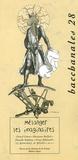 Michel Calonne et  Collectif - Bacchanales N° 28, Septembre 200 : Mélanger les imaginaires.