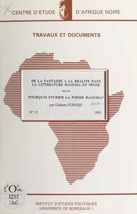 Maison des sciences de l'homme et Graham Furniss - De la fantaisie à la réalité dans la littérature Haoussa en Prose - Suivi de Pourquoi étudier la poésie Haoussa ?.