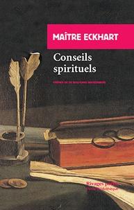 Conseils spirituels -  Maître Eckhart pdf epub