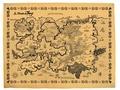 Didier Tarquin - Le Monde de Troy - Carte sur papier parchemin.