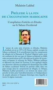 Malainin Lakhal - Prélude à la fin de l'occupation marocaine (en arabe) - Compilation d'articles et d'études sur le Sahara Occidental.